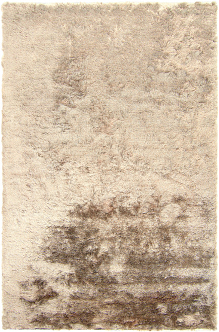 3.5' x 5.5' Shimmering Mottle Ivory Hand Woven Area Throw Rug - IMAGE 1