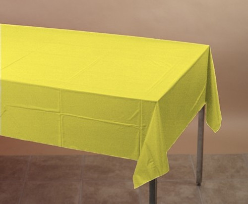 Pack of 6 Mimosa Yellow Disposable Banquet Party Table Covers 9' - IMAGE 1