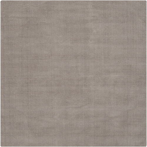9.75' x 9.75' Solid Mink Gray Hand Loomed Square Wool Area Throw Rug - IMAGE 1