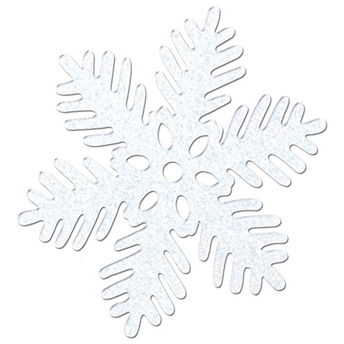 """Pack of 24 Christmas Winter White Sparkle Snowflake 11"""" - IMAGE 1"""