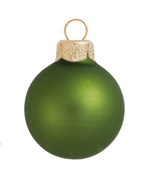 "4ct Lime Green Matte Glass Christmas Ball Ornaments 4.75"" (120mm) - IMAGE 1"