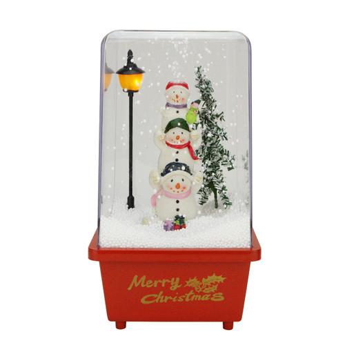 "11.5"" Musical Snowmen Friends Christmas Snow Globe Glittering Snow Dome - IMAGE 1"