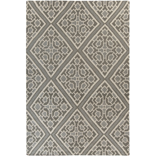 3.25' x 5.25' Ivory and Gray Hand Woven Area Throw Rug - IMAGE 1