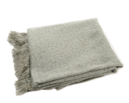 "Blue Gray Knitted Waffle Pattern Christmas Throw Blanket 50"" x 60"" - IMAGE 1"