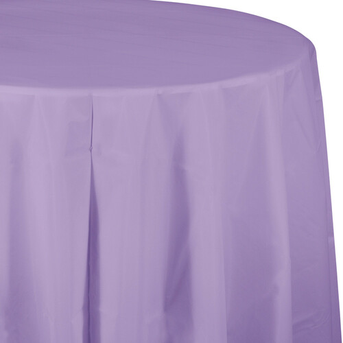 """Club Pack of 12 Luscious Purple Octy-Round Disposable Table Covers 82"""" - IMAGE 1"""