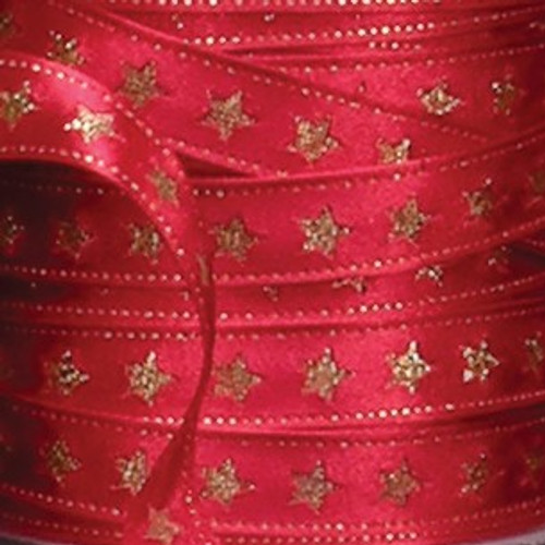 """Red with Gold Wired Craft Ribbon 0.5"""" x 54 Yards - IMAGE 1"""