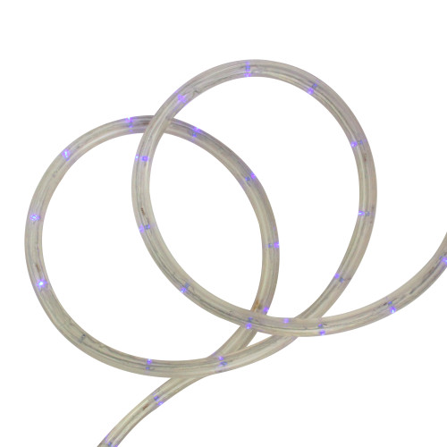 Blue Commercial Grade LED Christmas Rope Lights - 288 ft White Wire - IMAGE 1