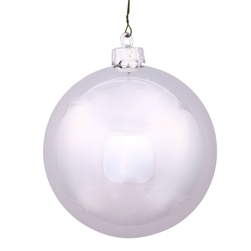 "Shiny Silver Shatterproof UV-Resistant Christmas Ball Ornament 2.75"" (70mm) - IMAGE 1"