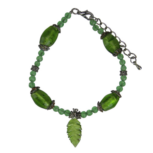 """Moments In Life """"Health"""" Green Beaded Bracelet - IMAGE 1"""
