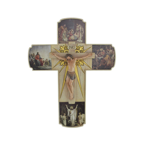 "12"" Joseph's Studio Life of Christ Religious Crucifix Wall Cross - IMAGE 1"