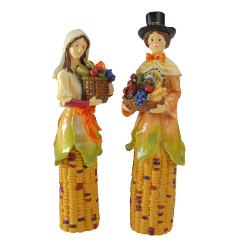 "Pack of 2 Pilgrim Autumn Harvest Table Top Decorations 10.5"" - IMAGE 1"