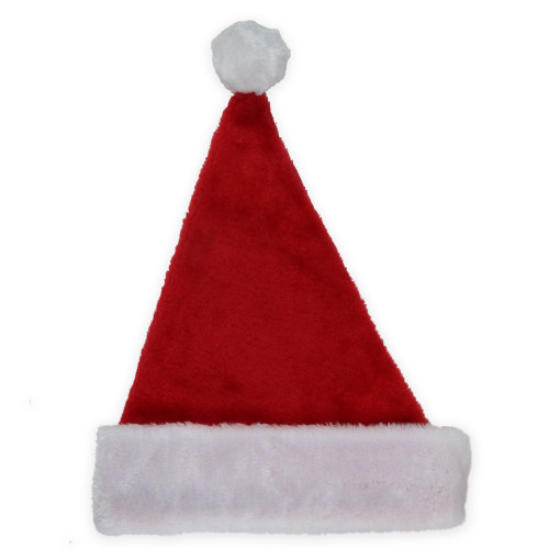 Red and White Plush Unisex Adult Christmas Santa Hat Costume Accessory - Small - IMAGE 1