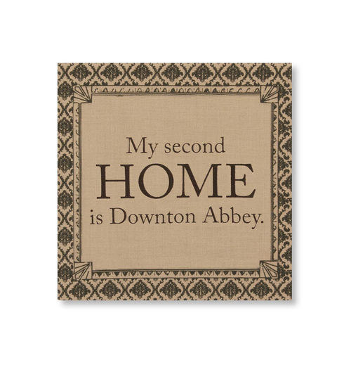 "14.5"" Downton Abbey Life ""Second Home"" British Decorative Damask Hanging Wall Art - IMAGE 1"
