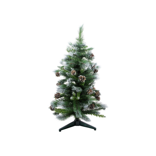 3' Green Frosted Glacier Pine Artificial Christmas Tree - Unlit - IMAGE 1