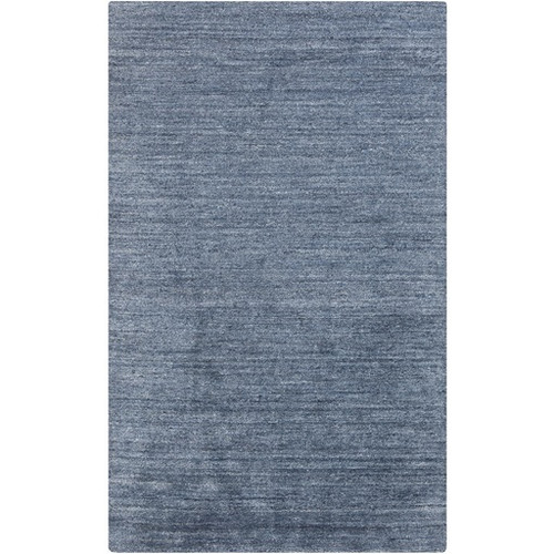 3.5' x 5.5' Blue Hand-Knotted Rectangular Area Throw Rug - IMAGE 1