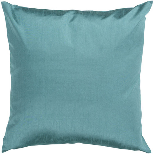 """22"""" Turquoise Blue Solid Square Contemporary Throw Pillow - Down Filler - IMAGE 1"""