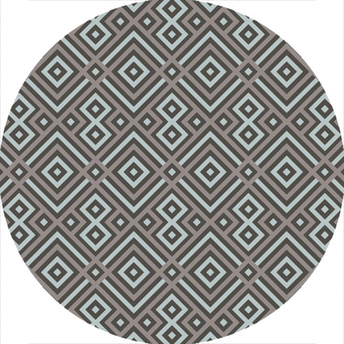 4' Charcoal Gray and Brown Hand Hooked Round Area Throw Rug - IMAGE 1