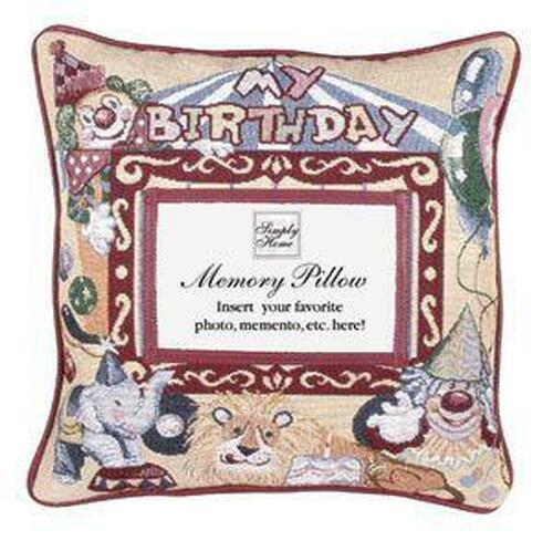 """12"""" Beige and Red Birthday Quotes Square Throw Pillow - IMAGE 1"""