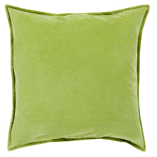 "18"" Green Contemporary Square Decorative Throw Pillow - IMAGE 1"