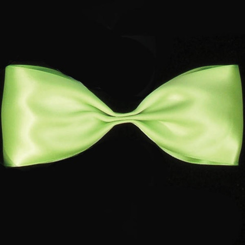 """Lime Green Double Face Craft Ribbon 1"""" x 108 Yards - IMAGE 1"""