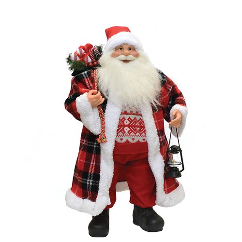 "24.5"" Red and White Santa Claus Christmas Figurine - IMAGE 1"