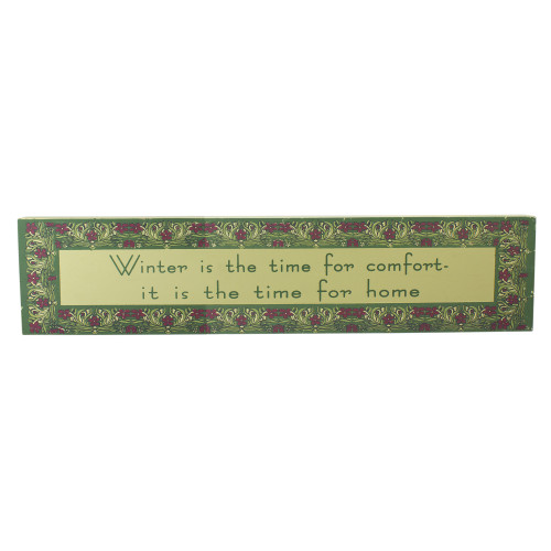 """22"""" Purple and Green Winter Themed Rectangular Sign Board - IMAGE 1"""