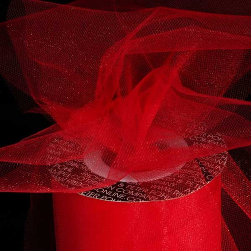Scarlet Red Contemporary Tulle Craft Ribbon 6 x 275 Yards - IMAGE 1