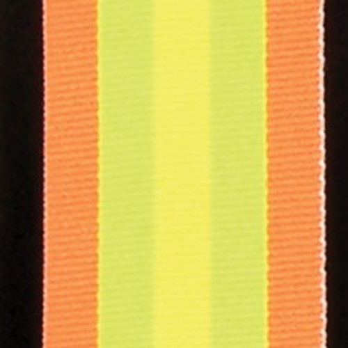 """Orange and Yellow Striped Woven Grosgrain Craft Ribbon 1.25"""" x 55 Yards - IMAGE 1"""