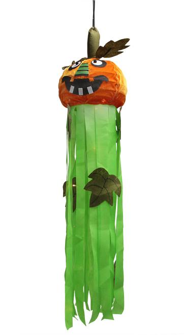 "46"" Orange and Green LED Lighted Jack-O-Lantern Pumpkin Hanging Halloween Decor - IMAGE 1"
