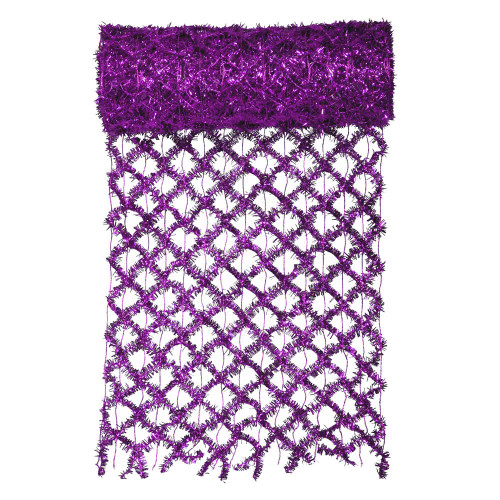 """Purple Commercial Mesh Garland Wired Craft Ribbon 12"""" x 10 Yards - IMAGE 1"""