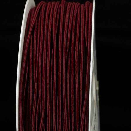 """Burgundy Red Solid Wired Craft Ribbon 0.25"""" x 110 Yards - IMAGE 1"""