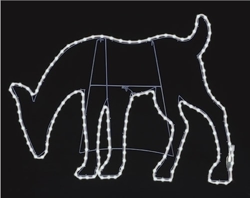 """31"""" White LED Lighted Deer Head Down Christmas Outdoor Silhouette Decoration - IMAGE 1"""
