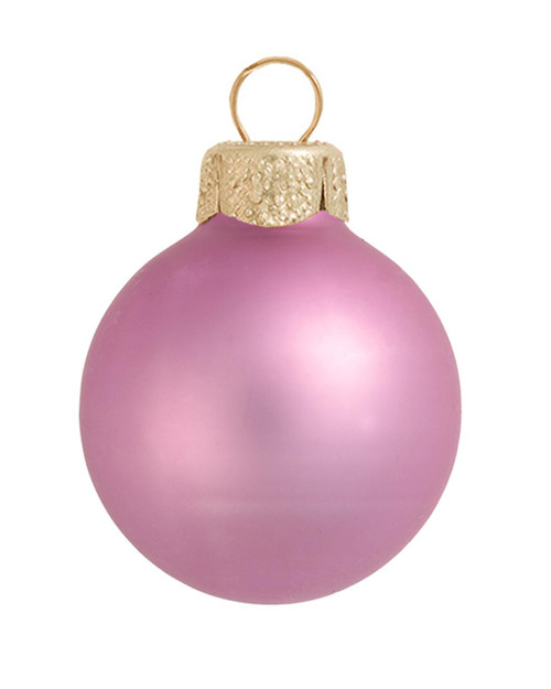 """28ct Rosewood Pink Matte Glass Christmas Ball Ornaments 2"""" (50mm) - IMAGE 1"""