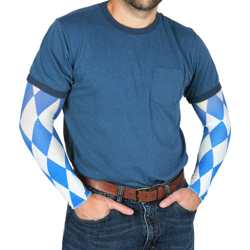Club pack of 24 Diamond Oktoberfest Sleeve Costume Accessories - One Size - IMAGE 1