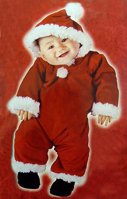 Red and White Baby Santa Unisex Infant Christmas Costume - Large - IMAGE 1