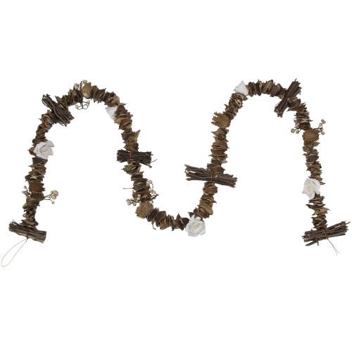 5' Brown Dried Botanical Artificial Christmas Garland - Unlit - IMAGE 1