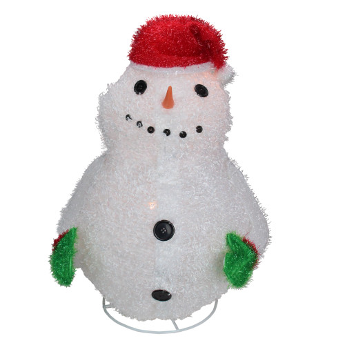 """24"""" Pre-Lit Red and White Snowman Outdoor Christmas Yard Decor - IMAGE 1"""