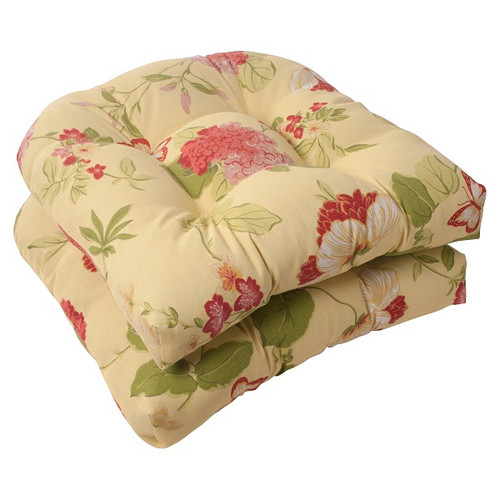 Set of 2 Solarium Bashful Blossom Outdoor Tufted Patio Furniture Chair Cushions - IMAGE 1