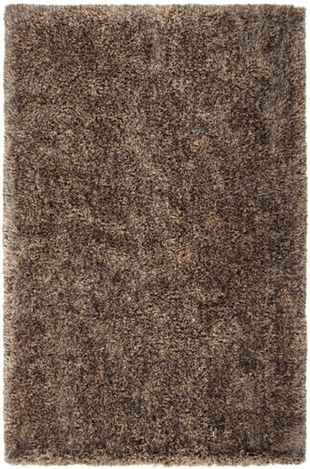 2' x 3' Brown Contemporary Hand-Woven Area Throw Rug - IMAGE 1