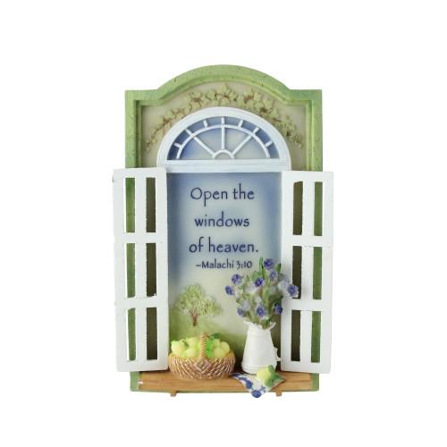 Open The Windows of Heaven Bible Scripture Plaque #40863 - IMAGE 1