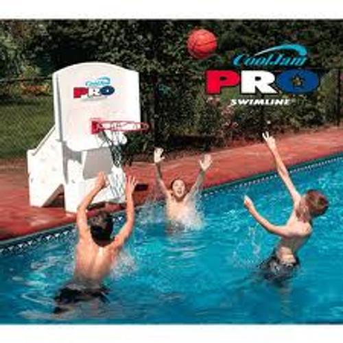 "44"" Orange and White Cool Jam Pro Adjustable Poolside Extra Wide Basketball Hoop - IMAGE 1"