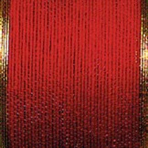 """Red and Gold Edge Wired Craft Ribbon 1.5"""" x 40 Yards - IMAGE 1"""