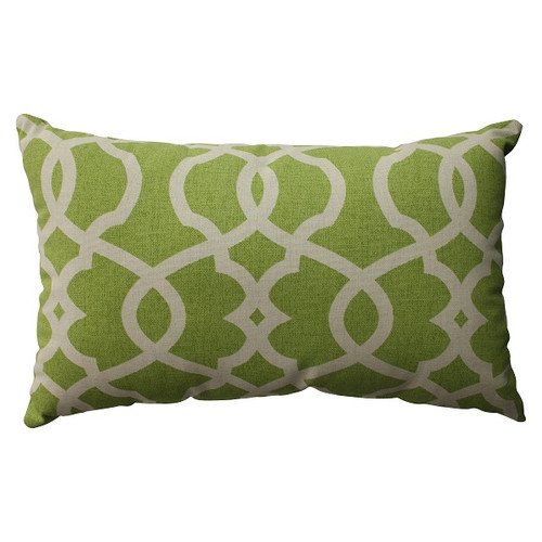 "18.5"" Green Apple Scrolling Rectangular Decorative Throw Pillow - IMAGE 1"