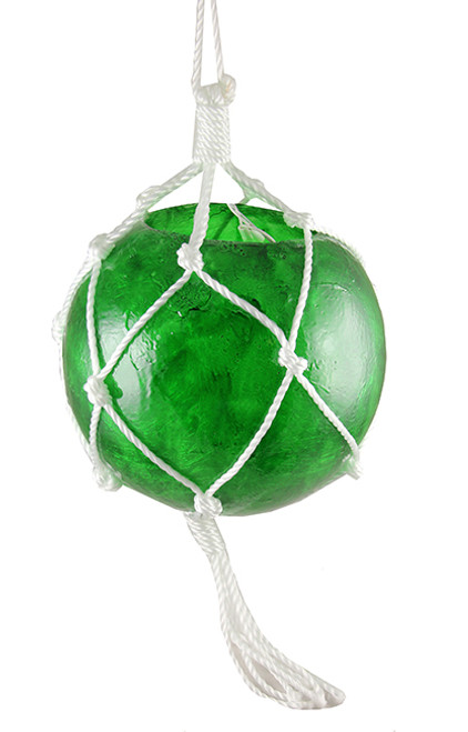 20-Count Green Ball with Rope Outdoor Christmas Light Set, 3.75ft White Wire - IMAGE 1