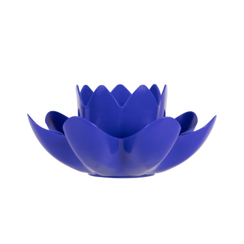 7.5-Inch Blue HydroTools Pool or Spa Floating Flower Candle Light - IMAGE 1