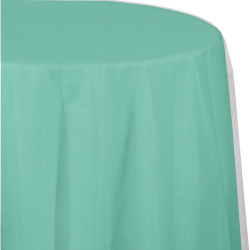"Club Pack of 12 Mint Green Round Heavy-Duty Tablecloth 82"" - IMAGE 1"