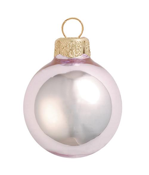 "40ct Shiny Baby Pink Glass Ball Christmas Ornaments 1.5"" (40mm) - IMAGE 1"