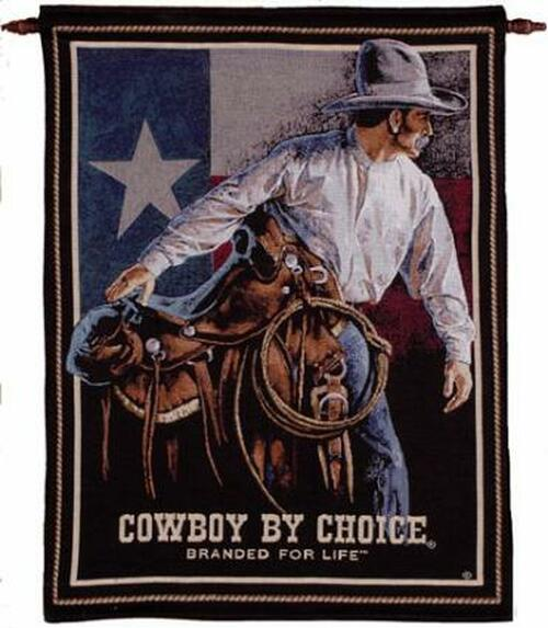 "Cowboy Saddle Flag Wall Hanging Tapestry 26"" x 36"" - IMAGE 1"