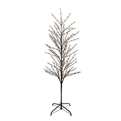 6' Enchanted Garden LED Lighted Cherry Blossom Flower Tree - Red Lights - IMAGE 1