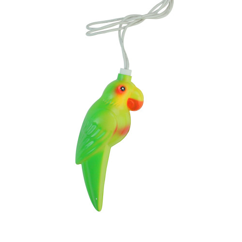 10 Multicolor Tropical Parrot Bird Christmas Lights - 7.5 ft White Wire - IMAGE 1